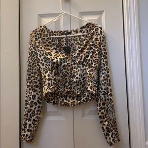 Nasty Gal Cheetah Top